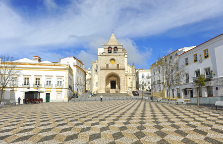 The great Cathedral of Our Lady of the Assumption located in the Place of the Republic, Elvas, Alentejo, Portugal