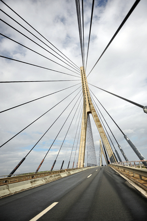 International bridge over the Guadiana river in Ayamonte, Huelva province, border between Spain and Portugal
