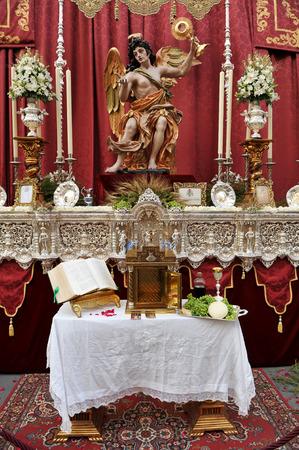 tabernacle: Religious Altar in the street during Corpus Christi, Seville, Spain