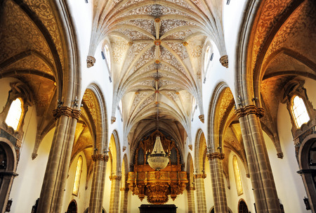 Inside the Cathedral of Our Lady of the Assumption, Elvas, Alentejo, Portugal
