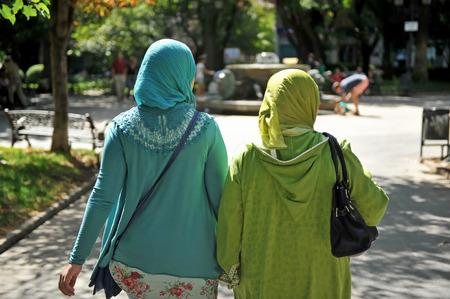 Veiled muslim women