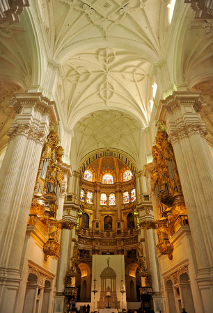 Inside the Granada Cathedral, Spain
