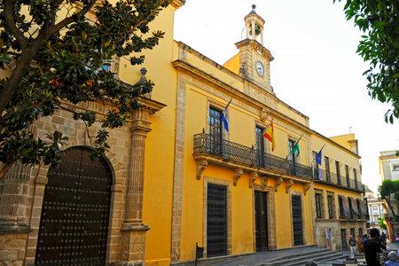 City Hall in Jerez de la Frontera, Andalusia, Spain Editorial