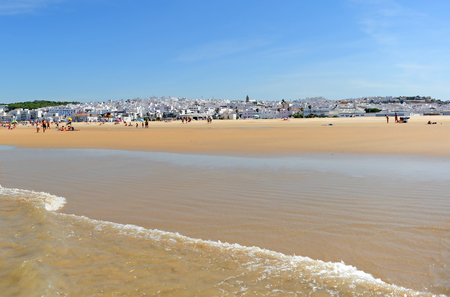 Bateles beach in  Conil de la Frontera, coast of Cadiz, Andalusia, Spain