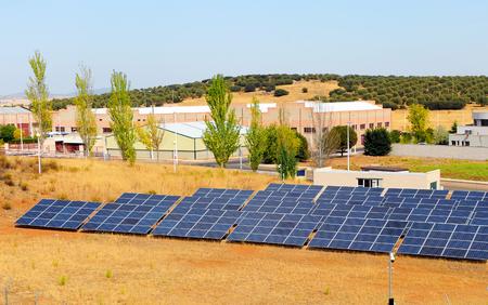 Solar power plant in an industrial estate, Puertollano, Ciudad Real province, Castilla la Mancha, Spain Фото со стока