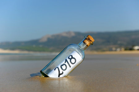 Happy New Year on the beach, 2018
