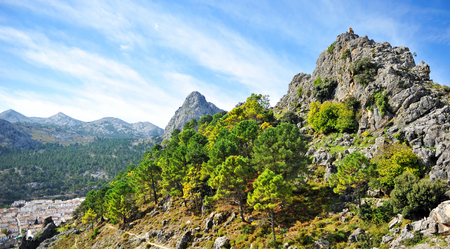 Mountains in the Sierra de Grazalema Natural Park, province of Cádiz, Spain