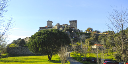 Monterrei Castle in Verin, famous town of the Ourense province, Galicia, Spain Éditoriale