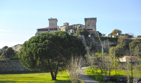 Monterrei Castle in Verin, famous town of the Ourense province, Galicia, Spain