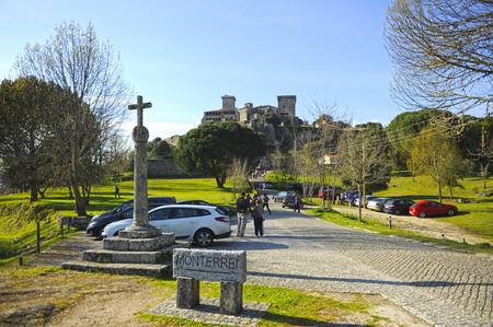 Castle of Monterrei in Verin, province of Orense, Galicia, Spain.