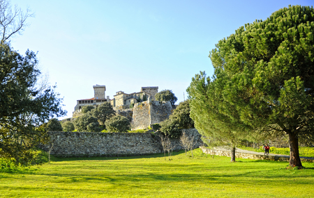 Monterrei Castleb in Verin, town of the Ourense province, Galicia, Spain