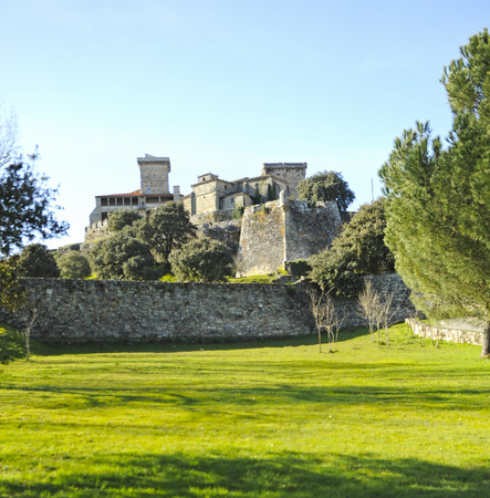 Castle of Monterrei in Verin, town of the Ourense province, Galicia, Spain