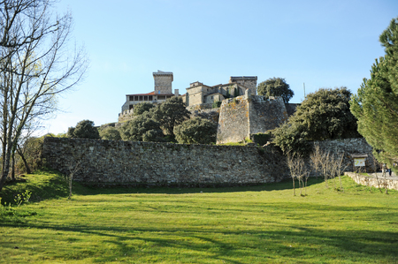 Castle of Monterrei in Verin, province of Ourense, Galicia, Spain.