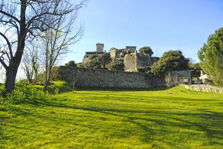 Château de Monterrey à Verin, province d'Ourense, en Galice, en Espagne.