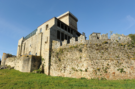 Palace of the Counts in the castle of Monterrey, Verin, Galicia, Spain.