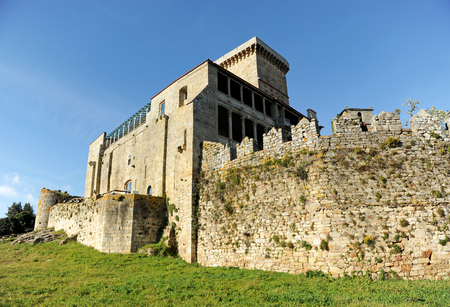 Palace of the Counts,  Monterrei Castle in Verin, province of Orense, Galicia, Spain.