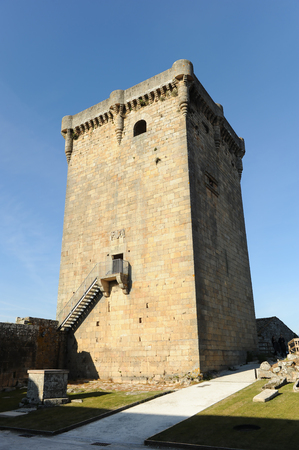 Donjon of Monterrei Castle in Verin, famous town in province of Ourense, Galicia, Spain.