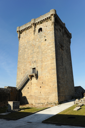 Donjon du château de Monterrey à Verin, province d'Ourense, Galice, Espagne.