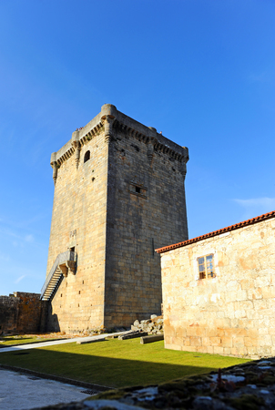Donjon of Monterrei Castle in Verin, province of Ourense, Galicia, Spain.
