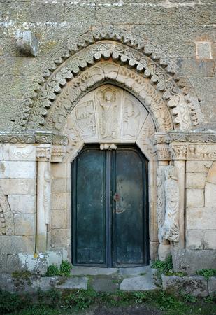 Église de Sainte Marie dans le château de Monterrey, Verin, Galice, Espagne.