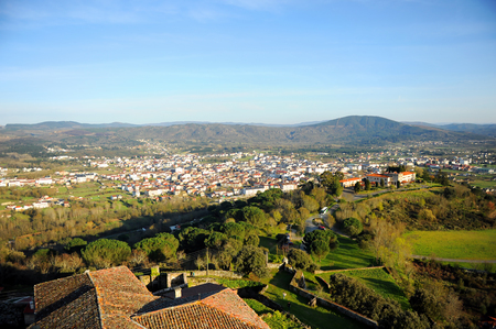 Panoramic view of Verin, Galicia, Spain. Verin is a town in the province of Ourense through which the Way of Santiago (Camino de Santiago) passes, specifically the Via de la Plata from Seville to Santiago de Compostela