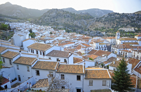 Grazalema, village on the route of the White Villages, province of Cadiz, Andalusia, Spain Banque d'images - 106855013