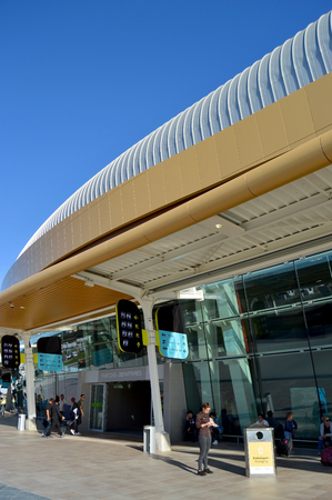 Terminal of Faro International Airport, Algarve, Portugal Banque d'images - 106711899