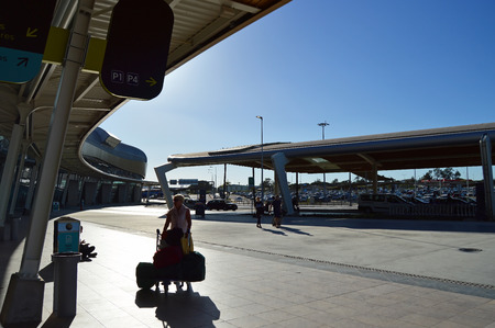 Access to Faro International Airport, Algarve, Portugal Banque d'images - 106711900