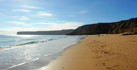 Mareta Beach, Sagres, beaches of Algarve Region, South of Portugal Banque d'images - 106708361