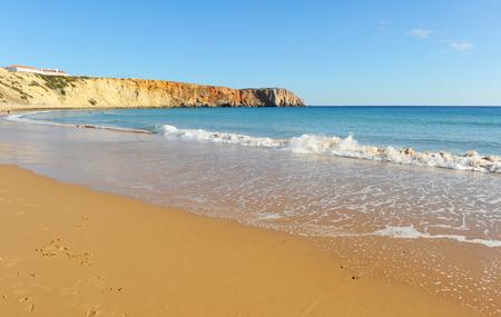 Mareta Beach in Sagres, Algarve Region, South of Portugal Banque d'images - 106708362
