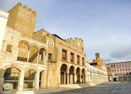 Consistorial House. High Square (Plaza Alta) in Badajoz. Tourism in Extremadura, Spain Banque d'images - 106726837