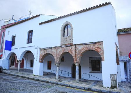 Mudejar houses (Casas Mudéjares), currently the municipal tourism office of Badajoz, Spain Banque d'images - 106726922