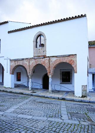 Mudejar houses (Casas Mudéjares), currently the municipal tourism office of Badajoz, Spain Banque d'images - 106726923