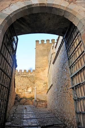 Door of Capitel in the Alcazaba of Badajoz, Extremadura Region, Spain Banque d'images - 106712297