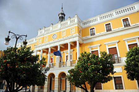 Town Hall of Badajoz, City Councils of Extremadura, Spain Banque d'images - 106712288