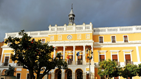 Town Hall of Badajoz, City Councils of Extremadura, Spain Banque d'images - 106712289