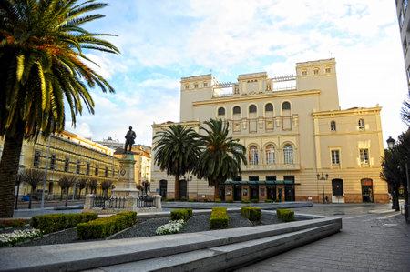 Lopez de Ayala Theater in Minayo Square. Badajoz, Extremadura Region, Spain Banque d'images - 106712293