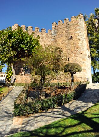 In Jerez de los Caballeros the Alcazaba fortress, a famous and monumental town of Badajoz province in Extremadura, Spain
