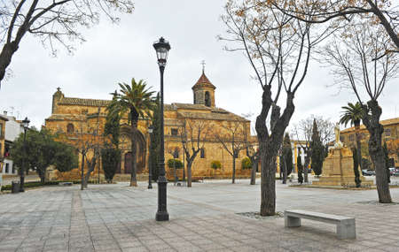 Square of May 1 (1 de mayo) and Church of St. Paul (San Pablo) in Ubeda. Renaissance city in the province of Jaen. World heritage site by Unesco. Andalusia, Spain