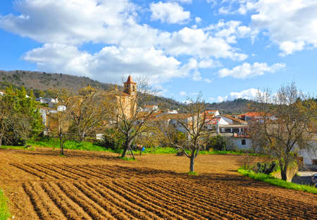 Castano del Robledo beautiful village of the Sierra de Aracena Natural Park. Province of Huelva Andalusia Spain Standard-Bild