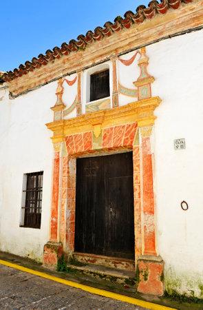 Manor house in Castano del Robledo beautiful village of the Sierra de Aracena Natural Park. Province of Huelva Andalusia Spain