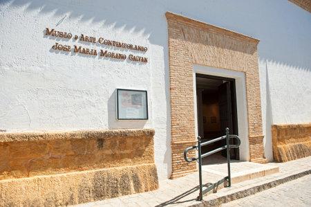 Museum of Contemporary Art Jose Maria Moreno Galvan of La Puebla de Cazalla, a village in the province of Seville, Andalusia, Spain