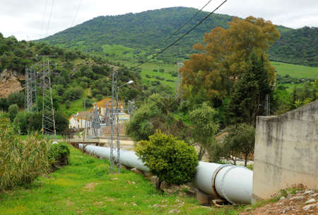 Las Buitreras hydroelectric power station in El Colmenar, Malaga province, Andalusia, Spain Standard-Bild