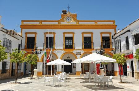 Town Hall of La Puebla de Cazalla, Consistorial House (Casa Consistorial), village in the province of Seville, Andalusia, Spain
