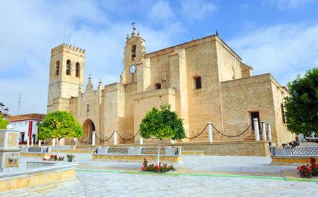 San Bartolome church -Saint Bartholomew- Villalba del Alcor Spain. Villalba del Alcor is a town of the Huelva province, Andalusia.