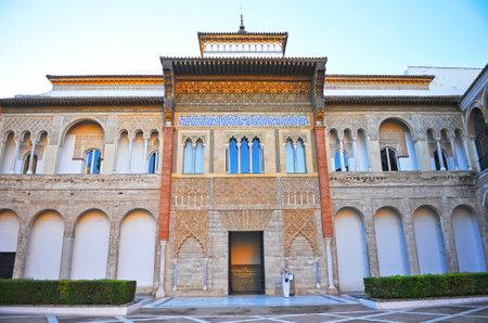 Alcazar of Seville Spain. Mudejar Palace. Patio de la Monteria