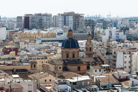 valencia: View of the roofs of Valencia Stock Photo