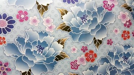 flores moradas: Fondo art�stico floral multi Foto de archivo