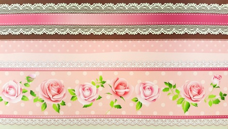 ladylike: Decorative Floral and Lace Background