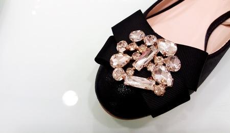 embellished: Embellished Black Flats